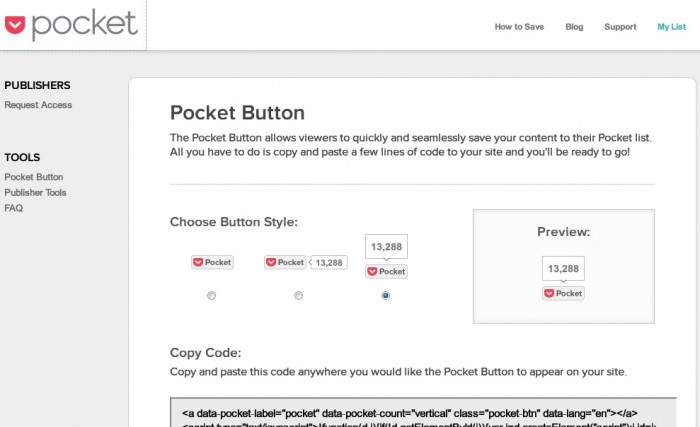 Pocket Button